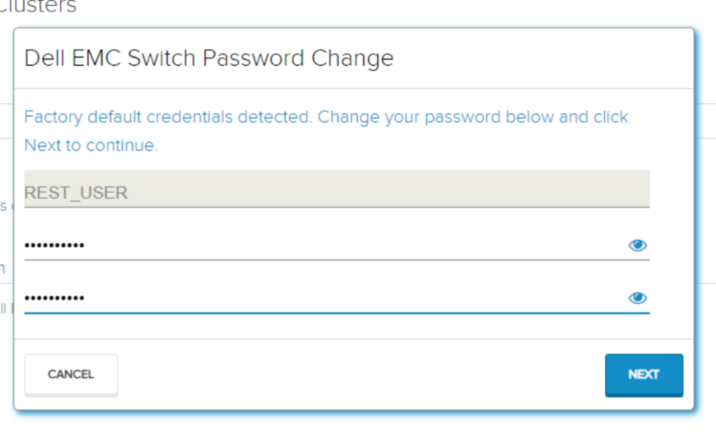 Setting REST User password