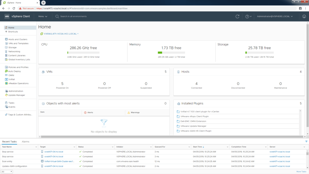 vSphere automation for VxRail SmartFabric