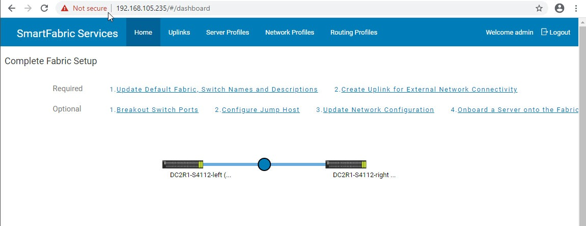 Using the new GUI for SmartFabric VxRail Deployment